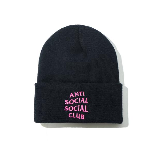 Pre-owned Anti Social Social Club  Mr. Bean Knit Cap (fw19) Black