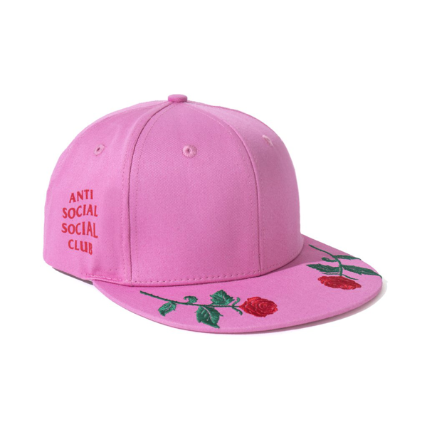 Pre-owned Anti Social Social Club  Roses Are Red Cap (fw19) Pink