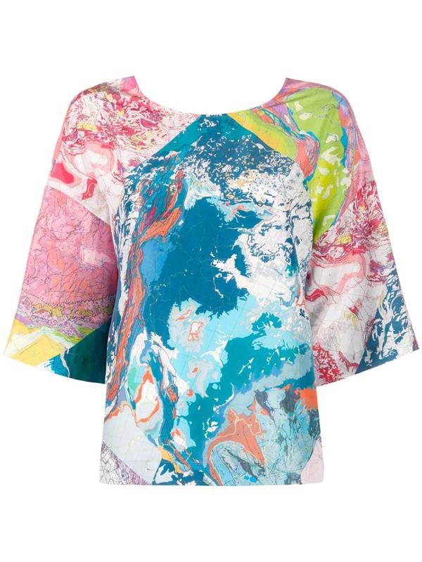 Raeburn Multiprint T-shirt In Blue