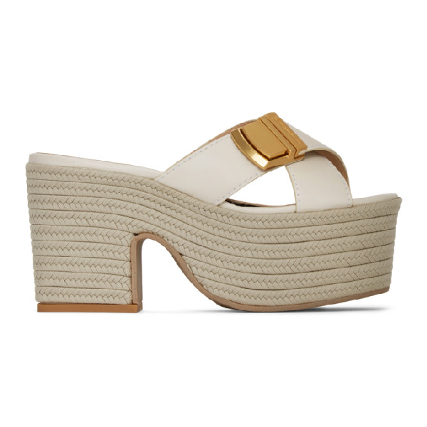 Jacquemus Les Sandales Tatanes Wedge Sandals In Off White