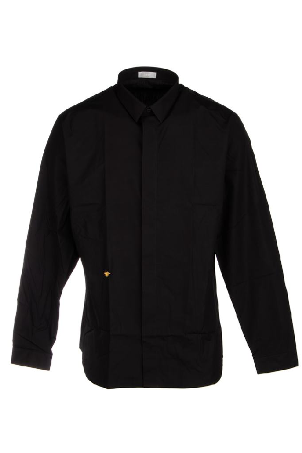 Dior Homme Bee Embroidered Shirt In Black