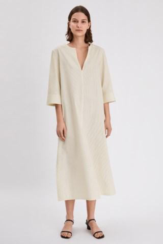 Filippa K Elaine Dress In Faded Acid,white Stripe