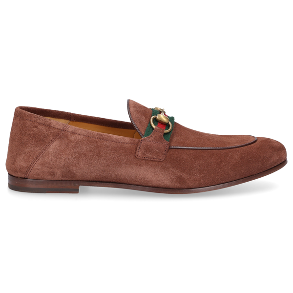Gucci Leather Horsebit Loafer In Beige
