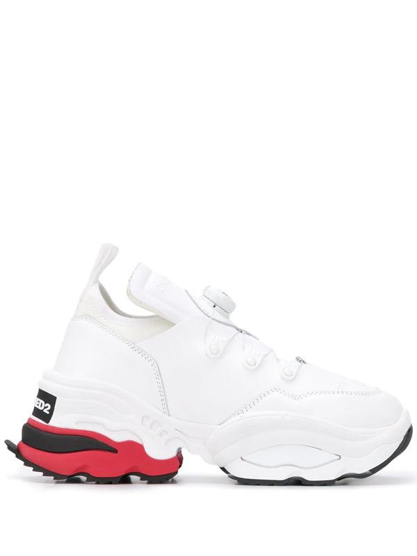 Dsquared2 Low-top Sneakers The Rolling Giant In White