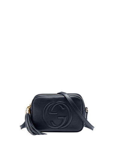 Gucci Soho Disco Textured-Leather Shoulder Bag  c12991ac01a42