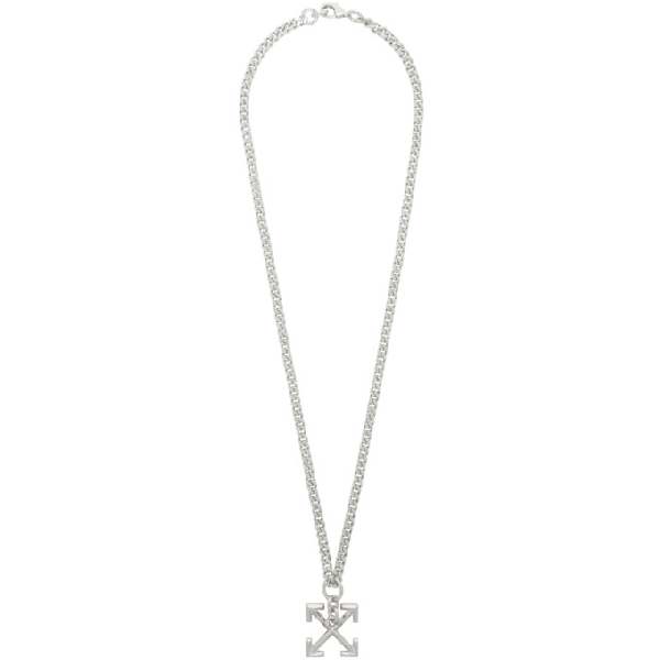 Off-white Arrows Link Chain Necklace In 9100 Silver