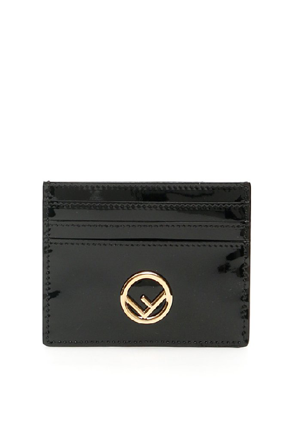 Fendi Logo Cardholder In Black