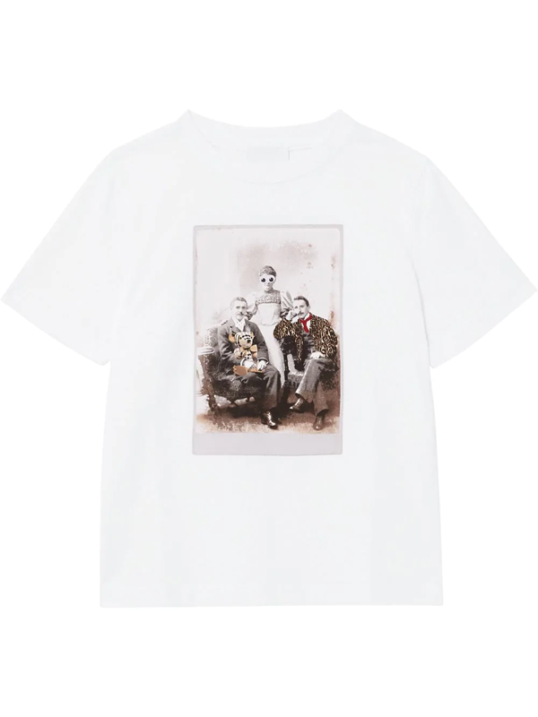 Burberry Kids' Collage Print Crewneck T-shirt In White