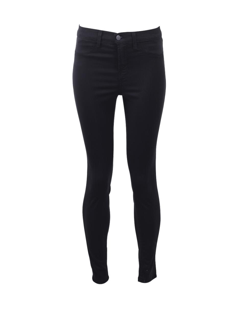 J Brand Maria High Rise Skinny Jeans In Coated Electric
