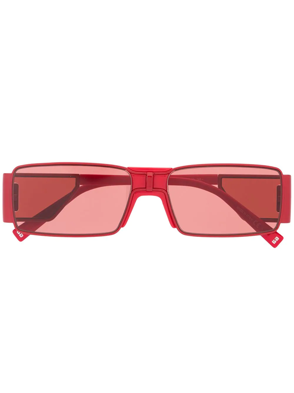 Givenchy Gv Rectangular Frame Sunglasses In Red