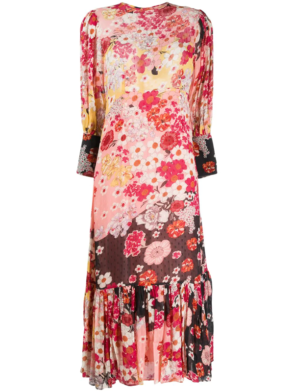 Bytimo Floral Midi Dress In Pink