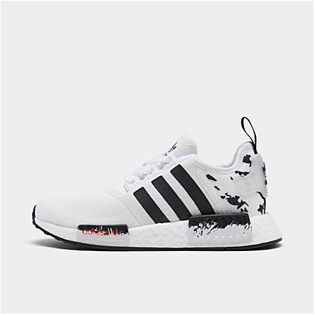 Kids' Adidas Big Boys Nmd R1 Casual Sneakers From Finish Line In White