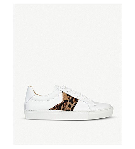 Lk Bennett Alivia Leopard-print Leather Trainers