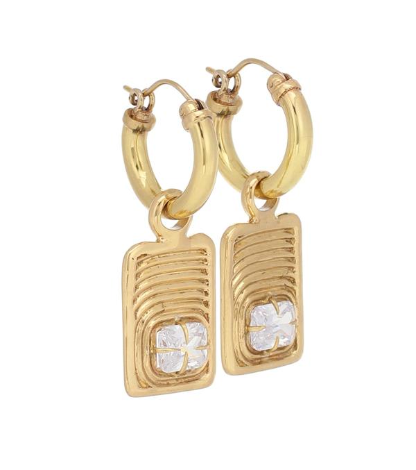 Ellery Horoscope Embellished Earrings In Gold