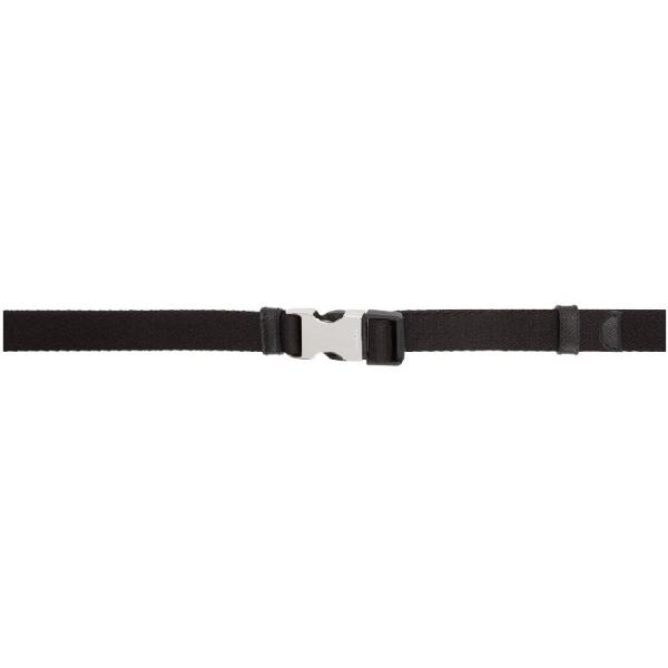 Prada Engraved Buckle Belt In Black