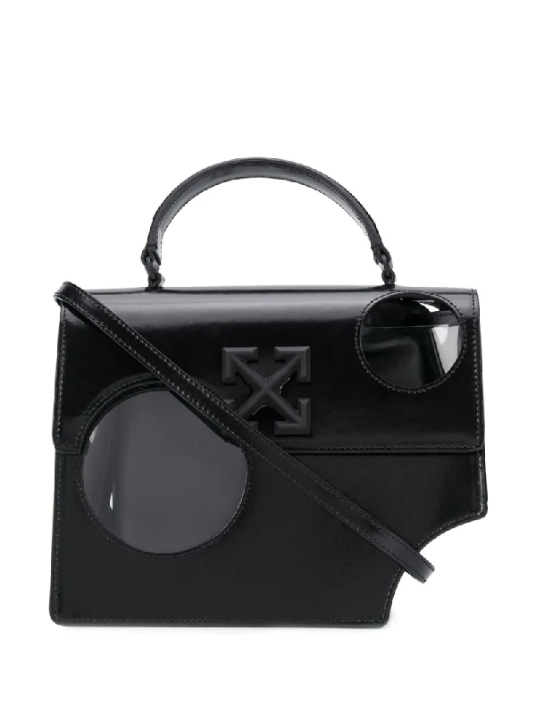 Off-white Meteor 2.8 Jitney Leather Bag In Black
