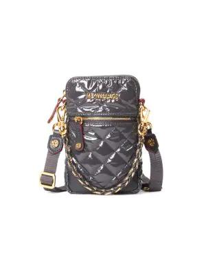 Mz Wallace Women's Micro Crosby Bag In Medium Grey