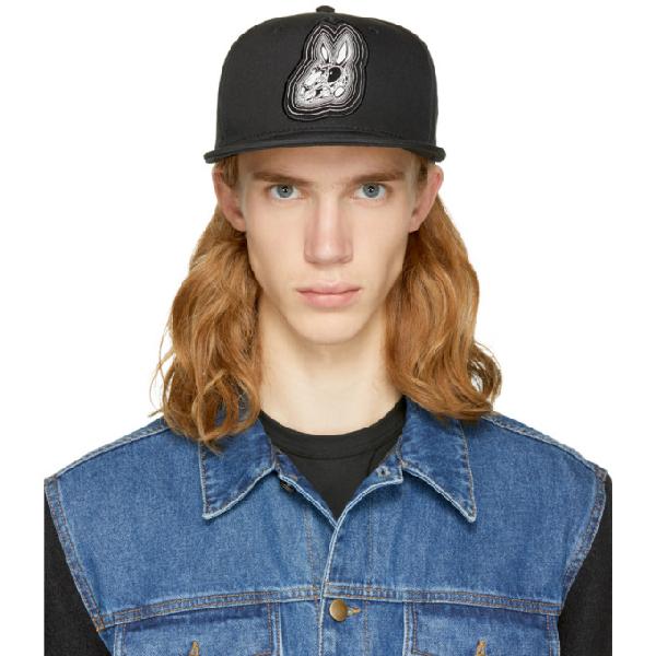 Mcq By Alexander Mcqueen Adjustable Men's Cotton Hat Baseball Cap  Bunny In Black