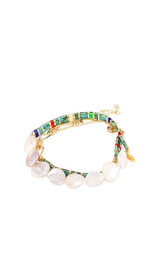 Shashi Tilu Duo Bracelet Set In Multi