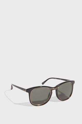Linda Farrow Luxe Square-frame Acetate Sunglasses In Black