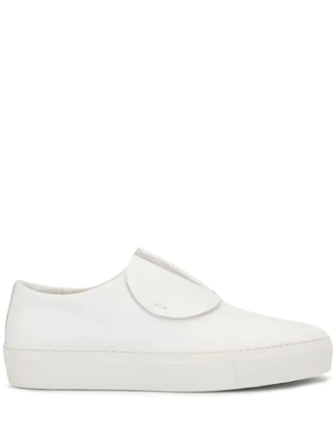Primury Paper Planes Slip-on Leather Trainers In White