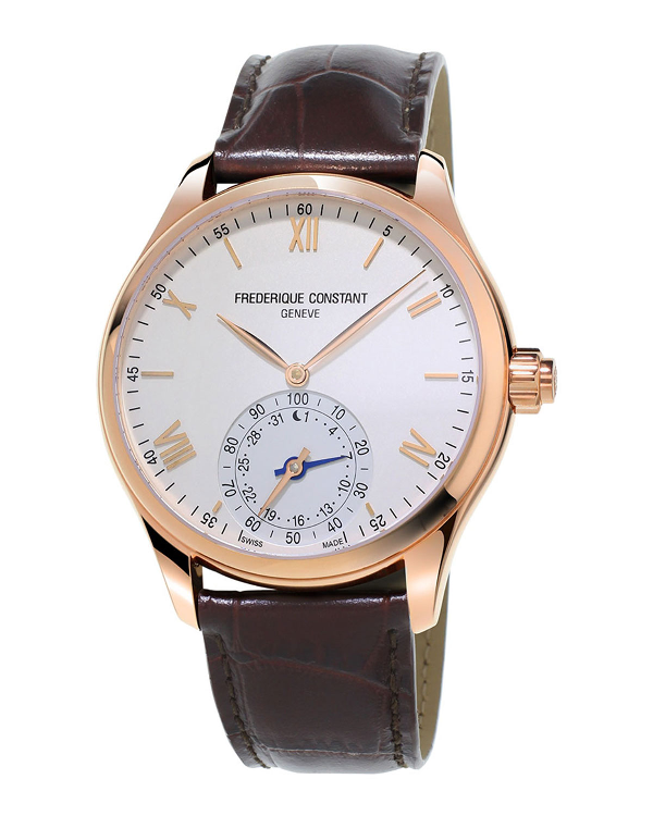 Frederique Constant Horological Smartwatch, 42mm In White/brown