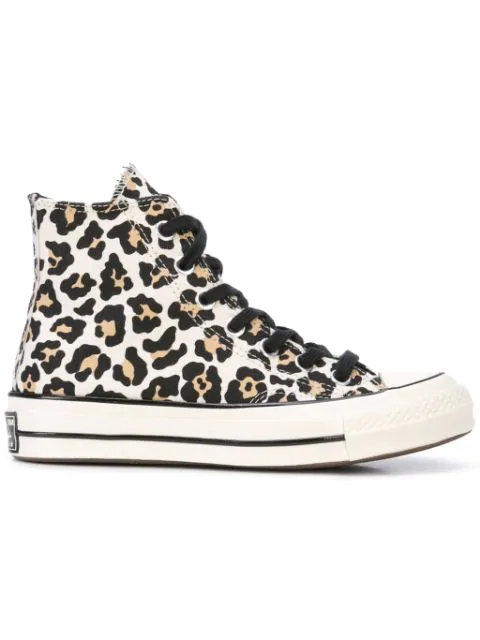 Chuck 70 Leopard-print Sneakers In White