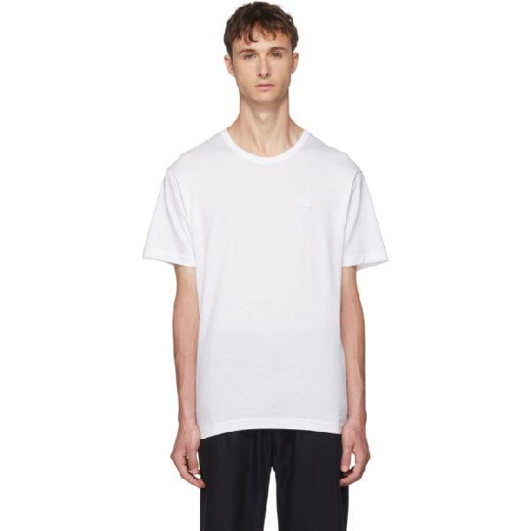 Acne Studios Slim-fit Organic Cotton-jersey T-shirt In Opticwhite