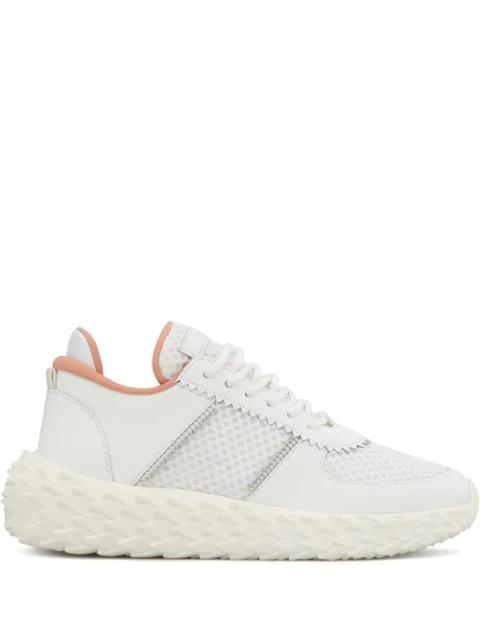 Giuseppe Zanotti Urchin Sneakers In White Leather