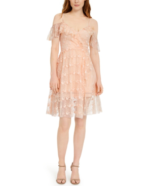 French Connection Emiki Lace Dress In Bellini