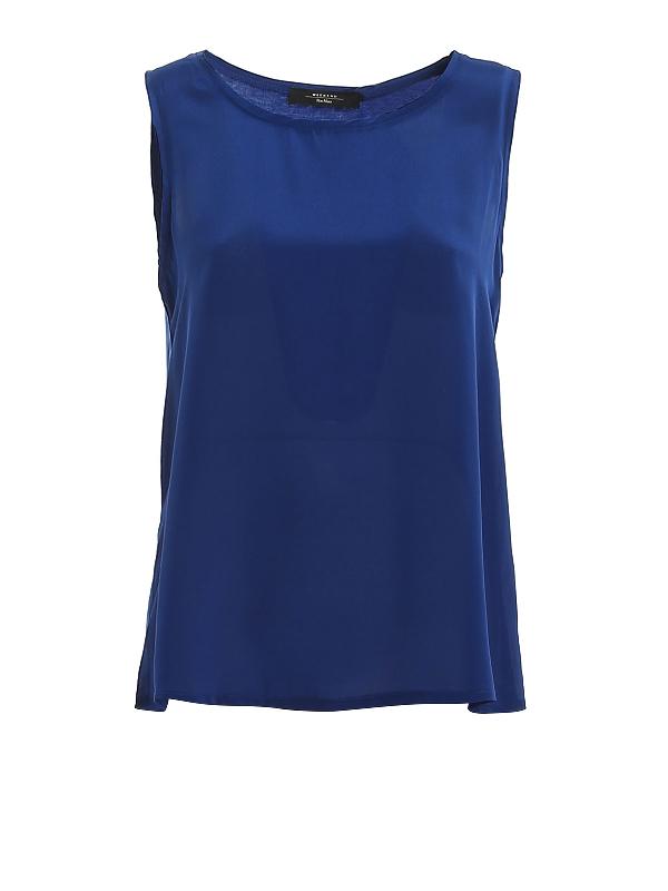 Weekend Max Mara Sleeveless Top In Blue