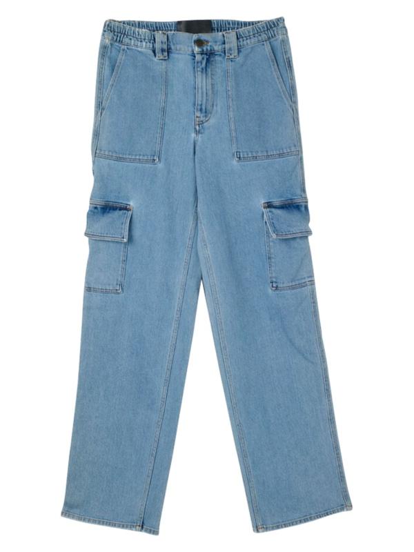 Garcons Infideles Oversized Baggy Cargo Denim Pants In Blue
