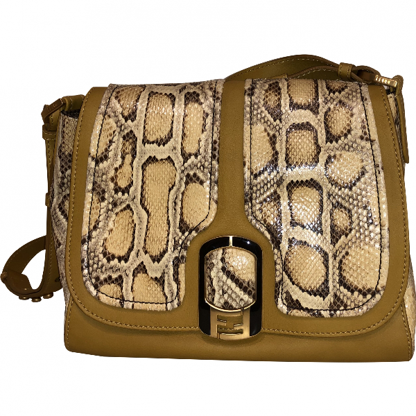 Fendi Silvana Beige Python Handbag