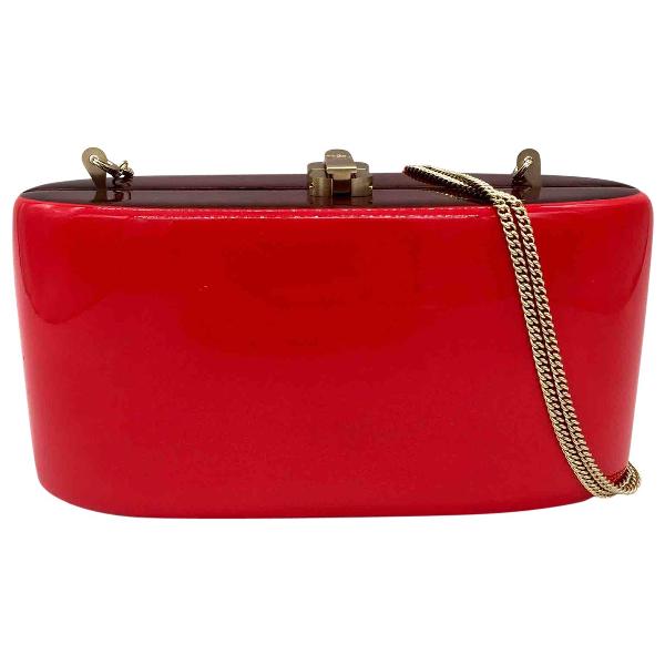 Rocio Red Suede Clutch Bag