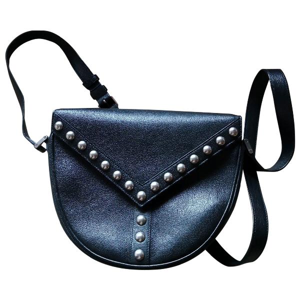 Saint Laurent Satchel Y Studs Black Leather Handbag