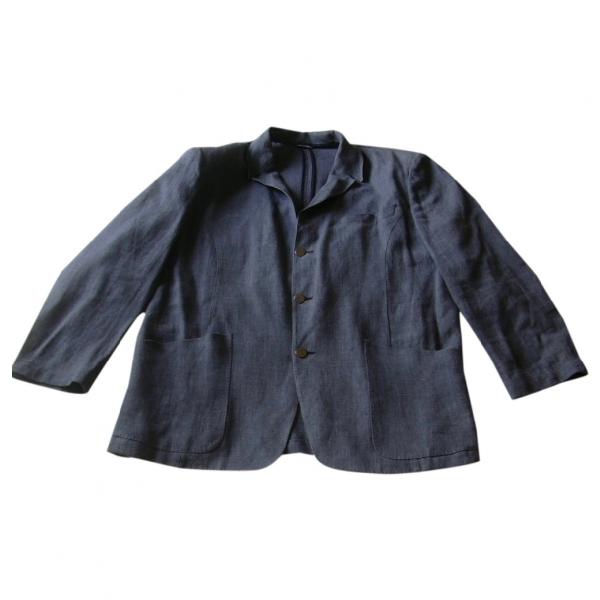 Mugler Blue Linen Jacket