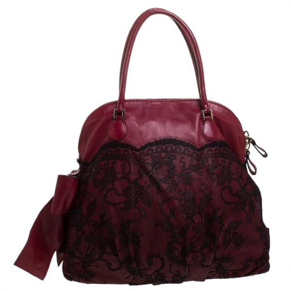 Valentino Garavani Red Leather Handbag