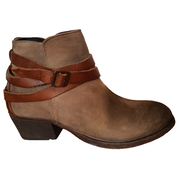 Hudson Brown Suede Ankle Boots