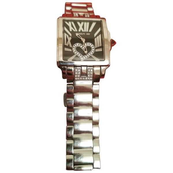 Pre-owned Cerruti 1881 Silver Steel Watch