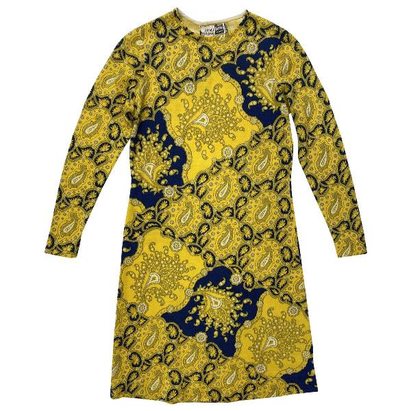 Leonard Yellow Wool Dress