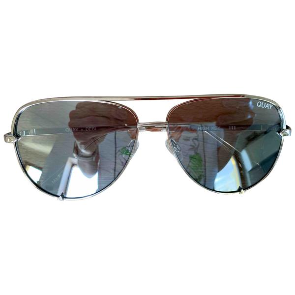 Quay Silver Metal Sunglasses