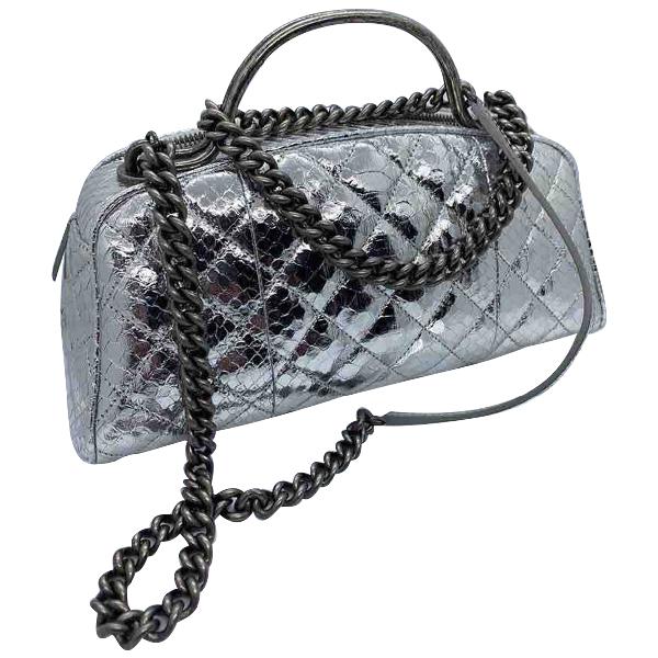 Chanel Metallic Python Handbag