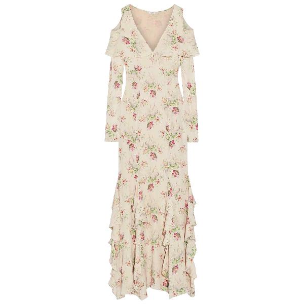 Vilshenko Ecru Silk Dress
