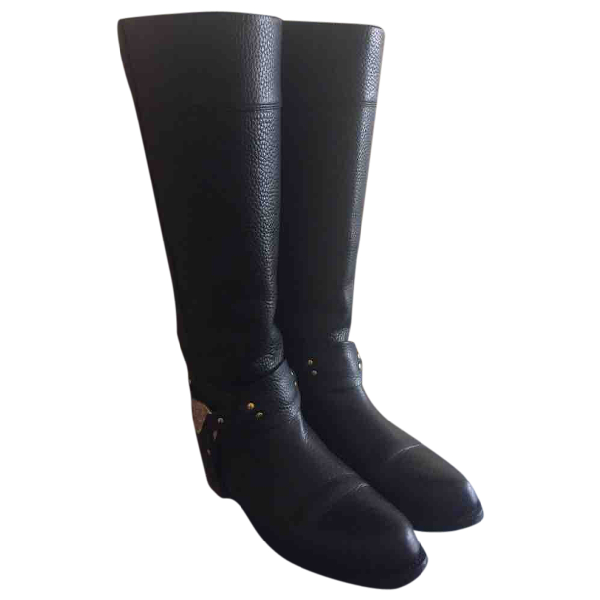 Versace Black Leather Boots