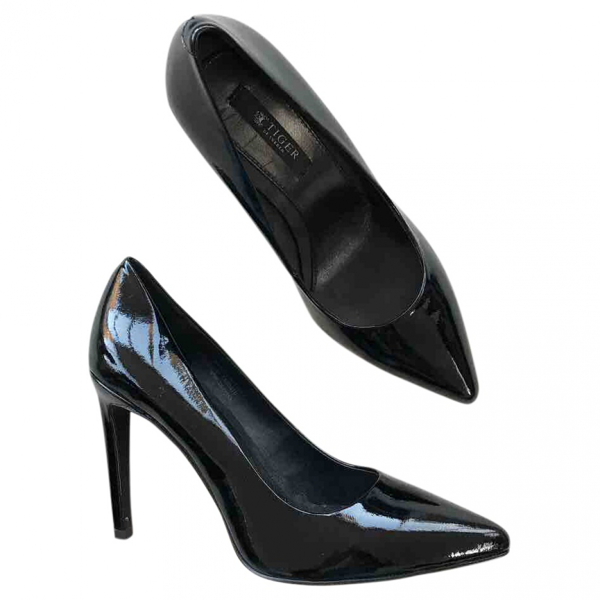 Tiger Of Sweden Black Patent Leather Heels