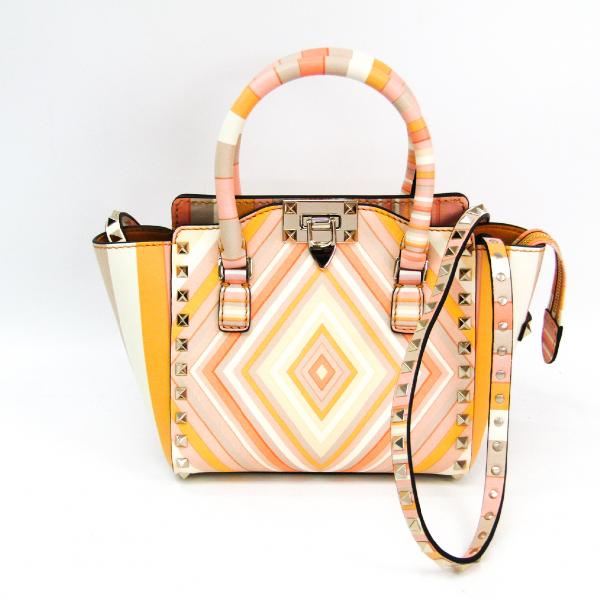 Valentino Garavani Rockstud Beige Leather Handbag