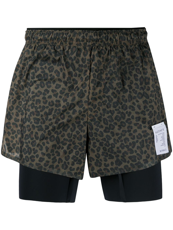 Satisfy Printed Running Shorts In Brown