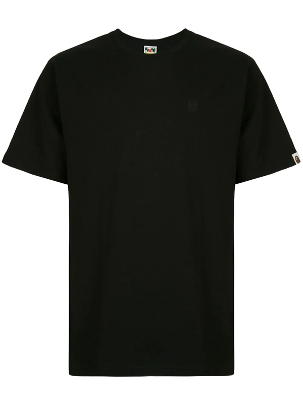 Bape Embroidered Logo T-shirt In Black