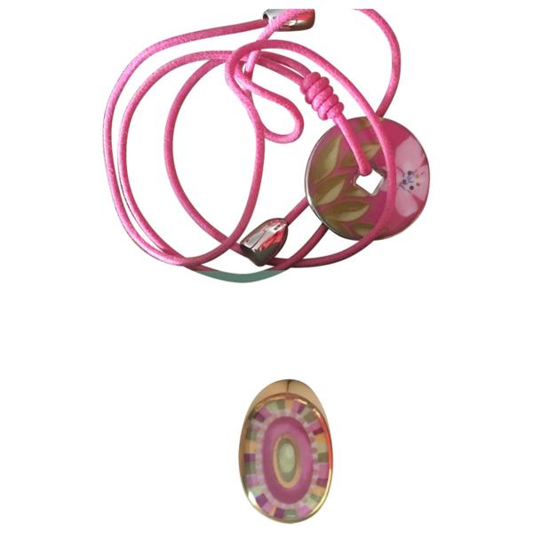 Pre-owned Bernardaud Pink Porcelain Pendant
