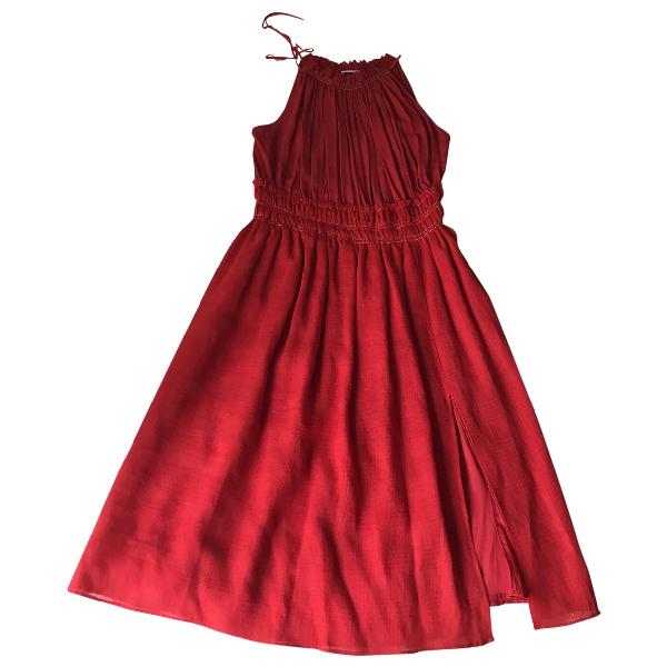Altuzarra Red Linen Dress